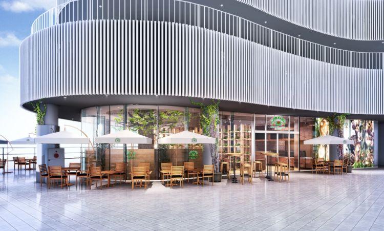 カリフォルニアスタイルのカフェ「Urth Caffé横浜ベイクォーター店」オープン