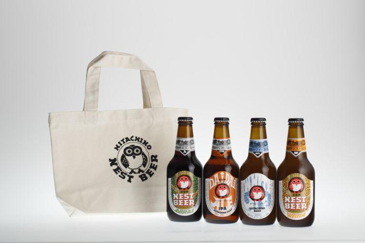 人気クラフトビールを気軽に贈ろう! エコバッグ入り常陸野ネストビールセット