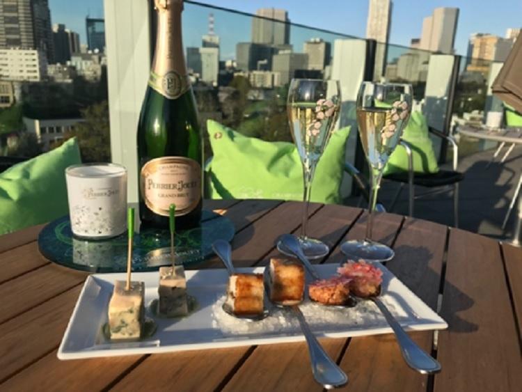「フィリップ・ミル 東京」ガーデンテラスで老舗シャンパーニュ「ペリエ ジュエ」を楽しむ