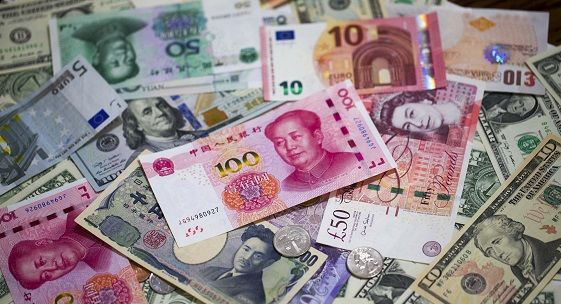 World currency with yuan