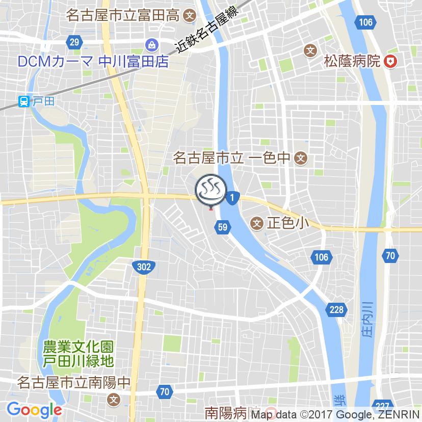 中川 コロナ の 店 湯 地図 :