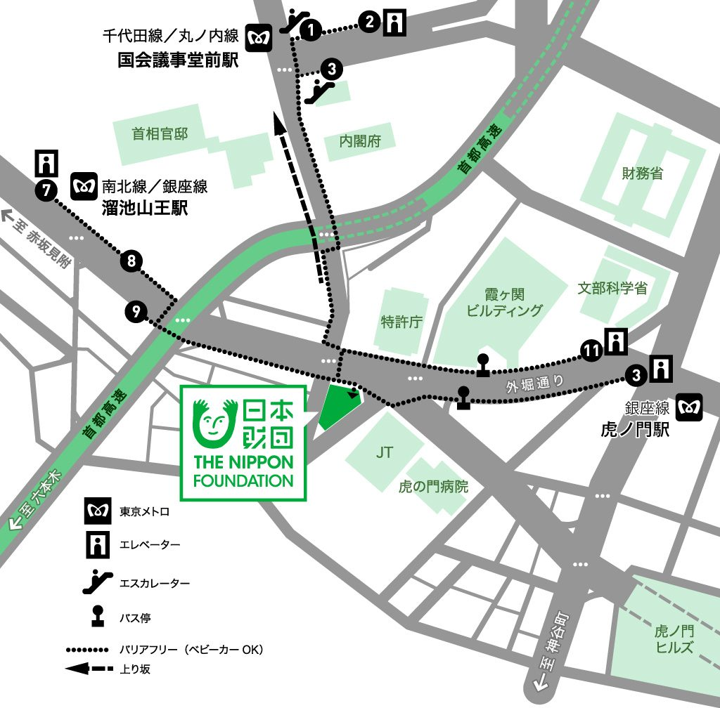 日本財団ビル周辺の地図