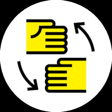 Japanese Sign Language translation icon