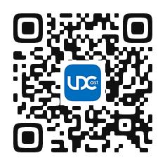 "QR code for downloading the free app ""UDCast"""