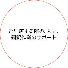 ご出店する際の、入力、翻訳作業のサポート