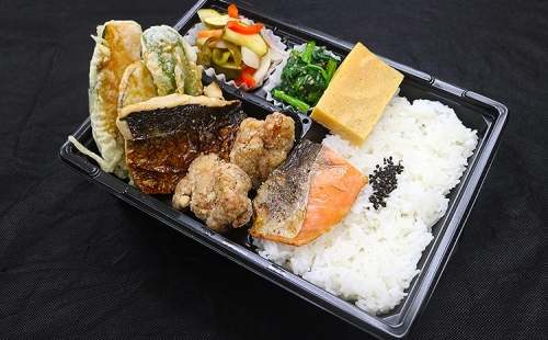 Grilled salmon and mackerel, Bento(Heating type box)