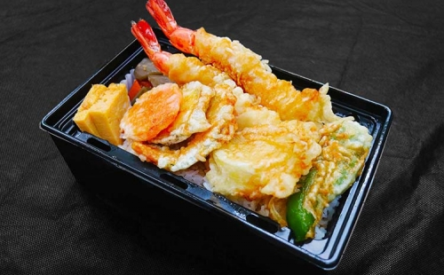 Prawn Tempura bowl of rice, Bento(Heating type box)