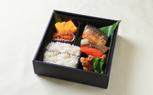 Two types of Grilled  fish, Bento (Standard box)