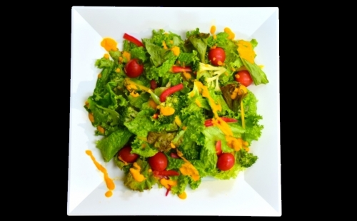 Green Salad -Special Carrot Dressing-