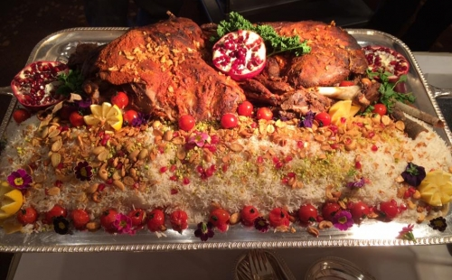 Whole lamb with rice