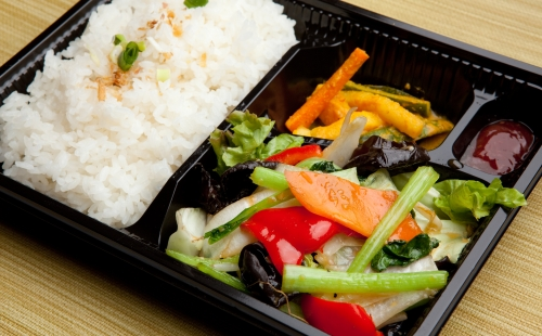 Fried Vegetables Bento