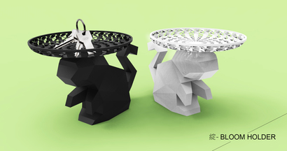 花-置物小猴盤