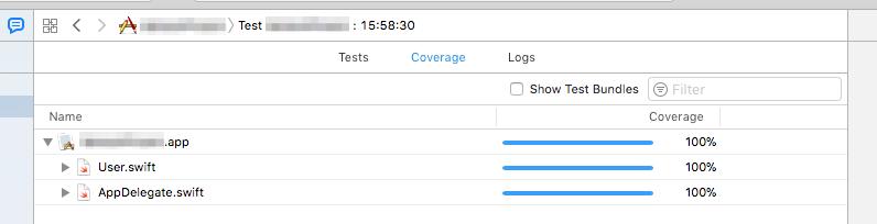 Xcodeのコードカバレッジレポートの表示