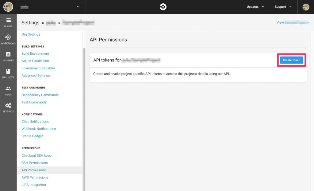 CircleCI API 用のトークンを取得する