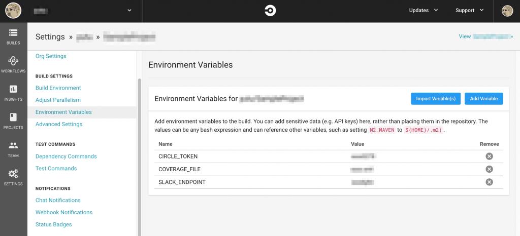 環境変数追加後のEnvironment Variables