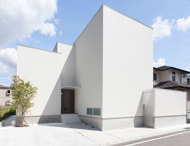モルタル素材を使用した外壁