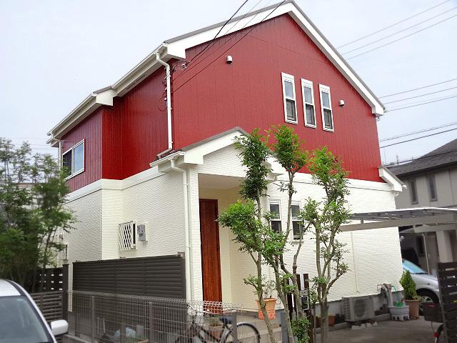 階によって色分けした外壁デザイン例