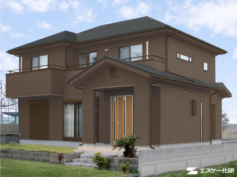 外壁と屋根の色の組み合わせ例_ブラックとブラウン