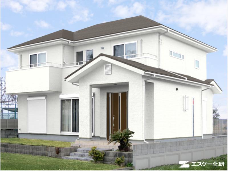 外壁と屋根の色の組み合わせ例_ホワイトとグレー