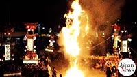 Kiriko lantern float festivals begin on Noto Peninsula