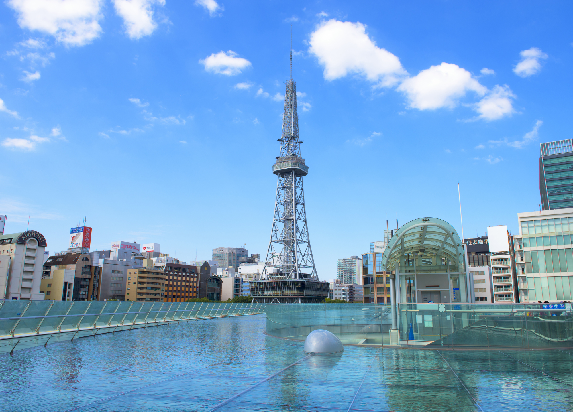 View of Nagoya TV Tower from the spaceship
