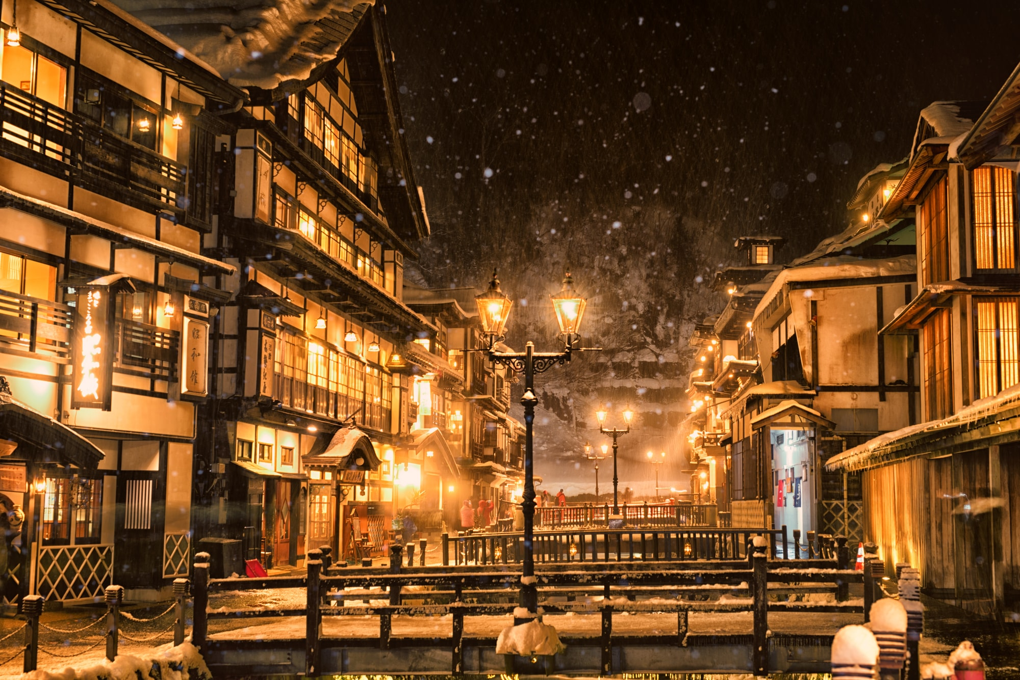 Streets of Ginzan Onsen hot springs town