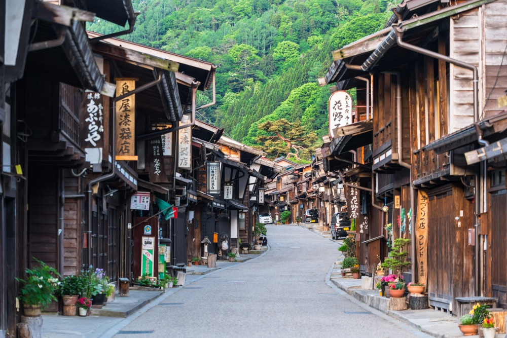 The streets of Narai-juku