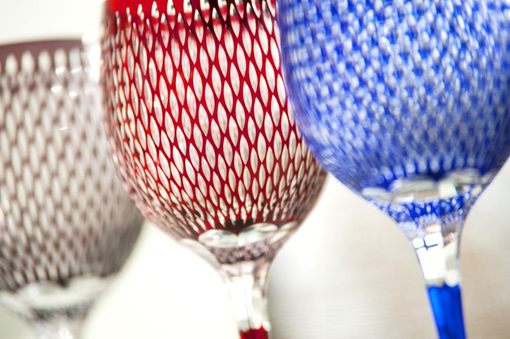 江户切子的玻璃制品