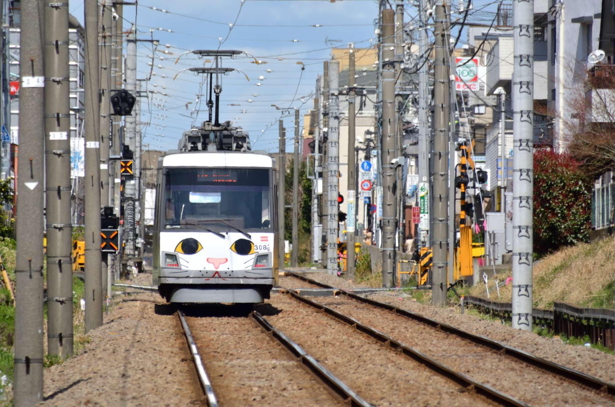 Tokyo Line Maneki-Neko tram