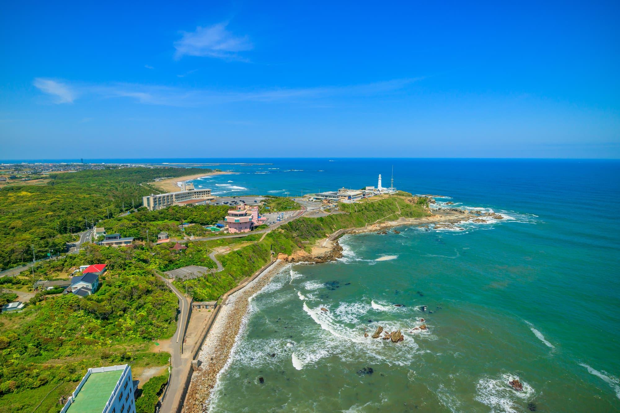 Pemandangan Tanjung Inubozaki dari atas