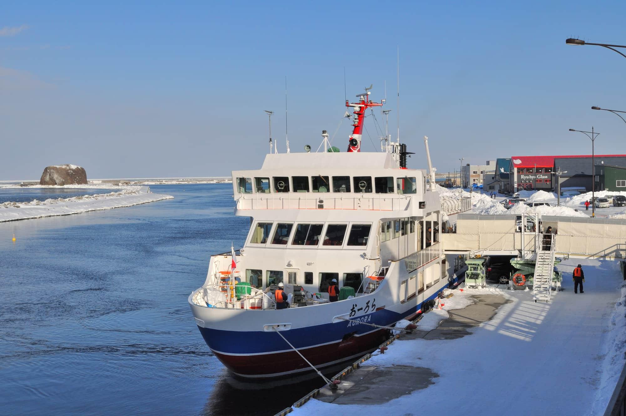 網走流氷観光砕氷船おーろらの外見