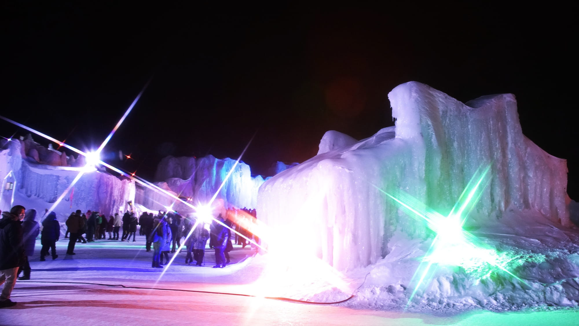 Ice Sculptures at the Sounkyo Onsen Ice Fall Festival