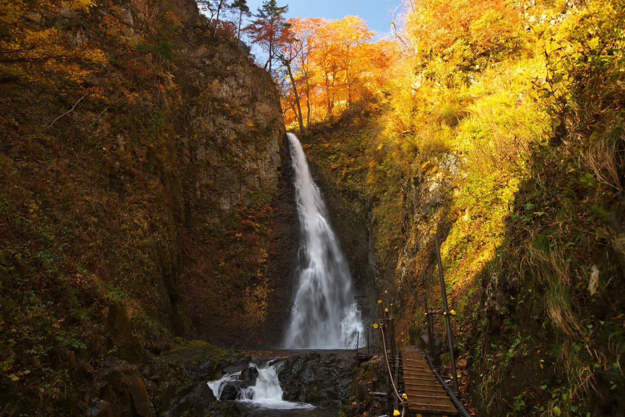 Anmon Falls in the autumn