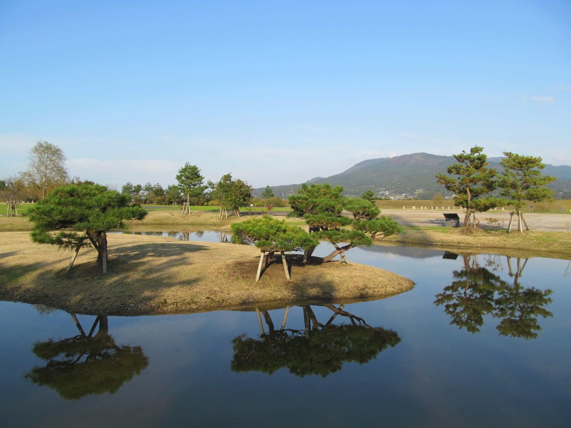 View of Yanagigosho Ruins
