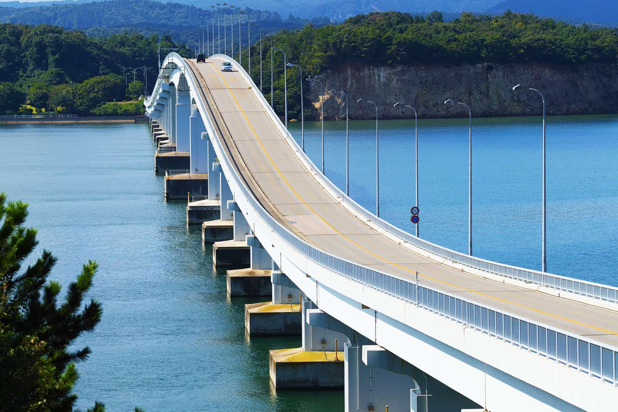 View of Notojima Ohashi Bridge