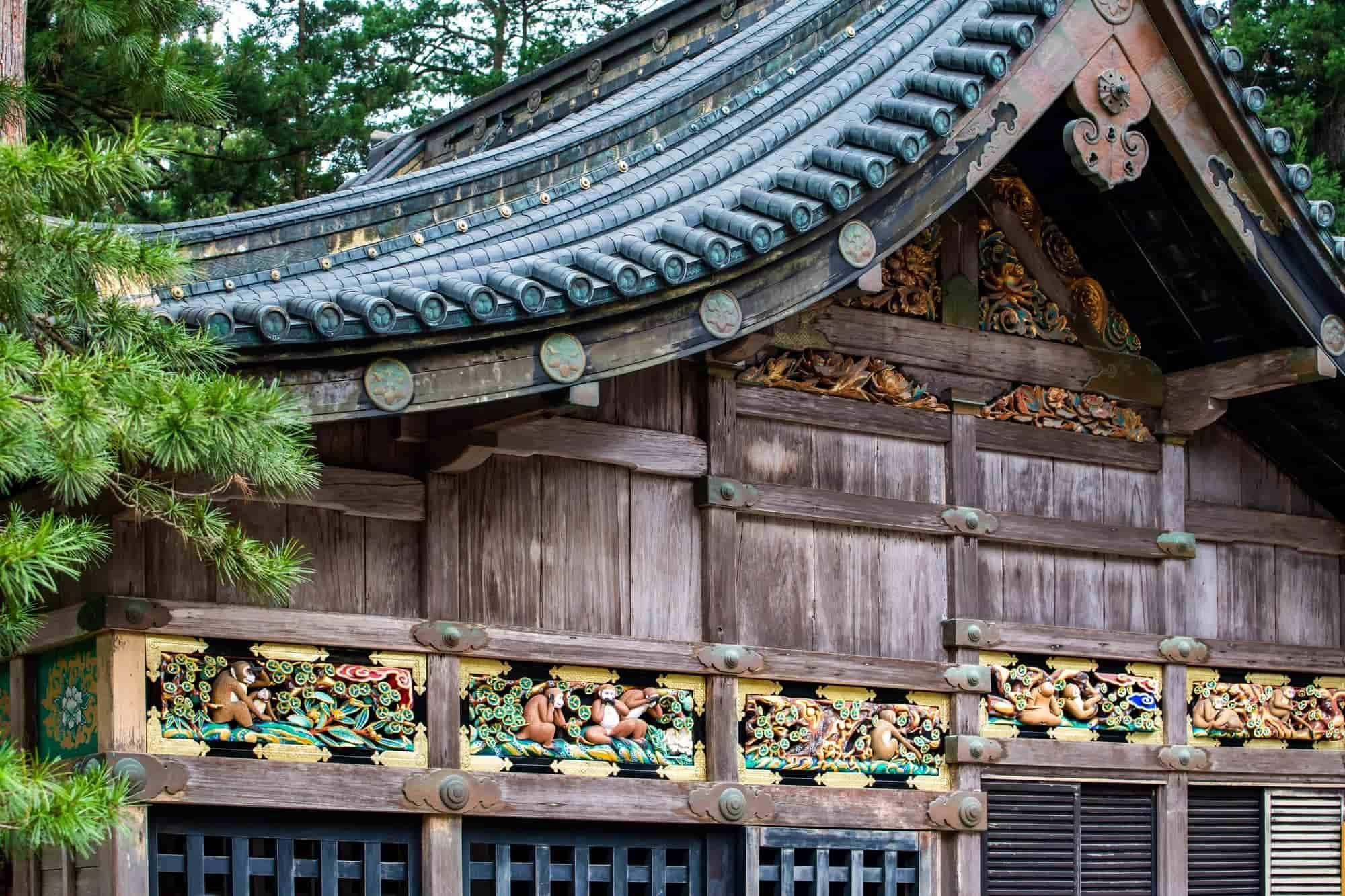 The three wise monkeys of the Nikko Tosho-gu Shrine