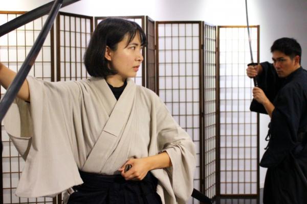 Tate sword fighting in Shinjuku Tokyo