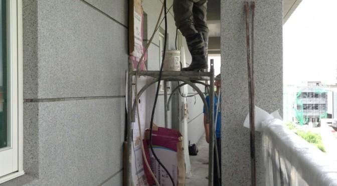 台中市后里 – 民宅興建案倒吊鑽孔工程