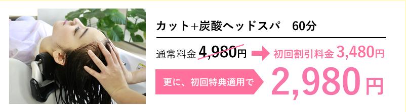 対象サロンが500円OFF