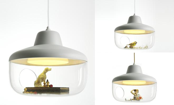 コレクションアイテムを飾れるランプシェード