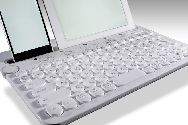 文字入力はこれ1台で!「Bluetooth® マルチデバイス キーボード K480」