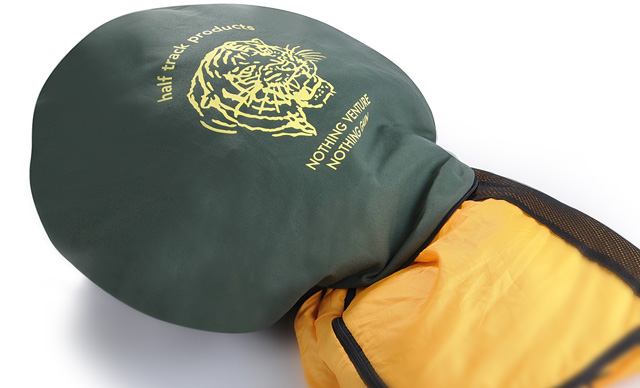 寝袋をクッションに変える、ストレージバッグの進化系