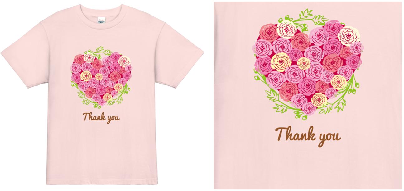 表面の寄せ書きTシャツ例