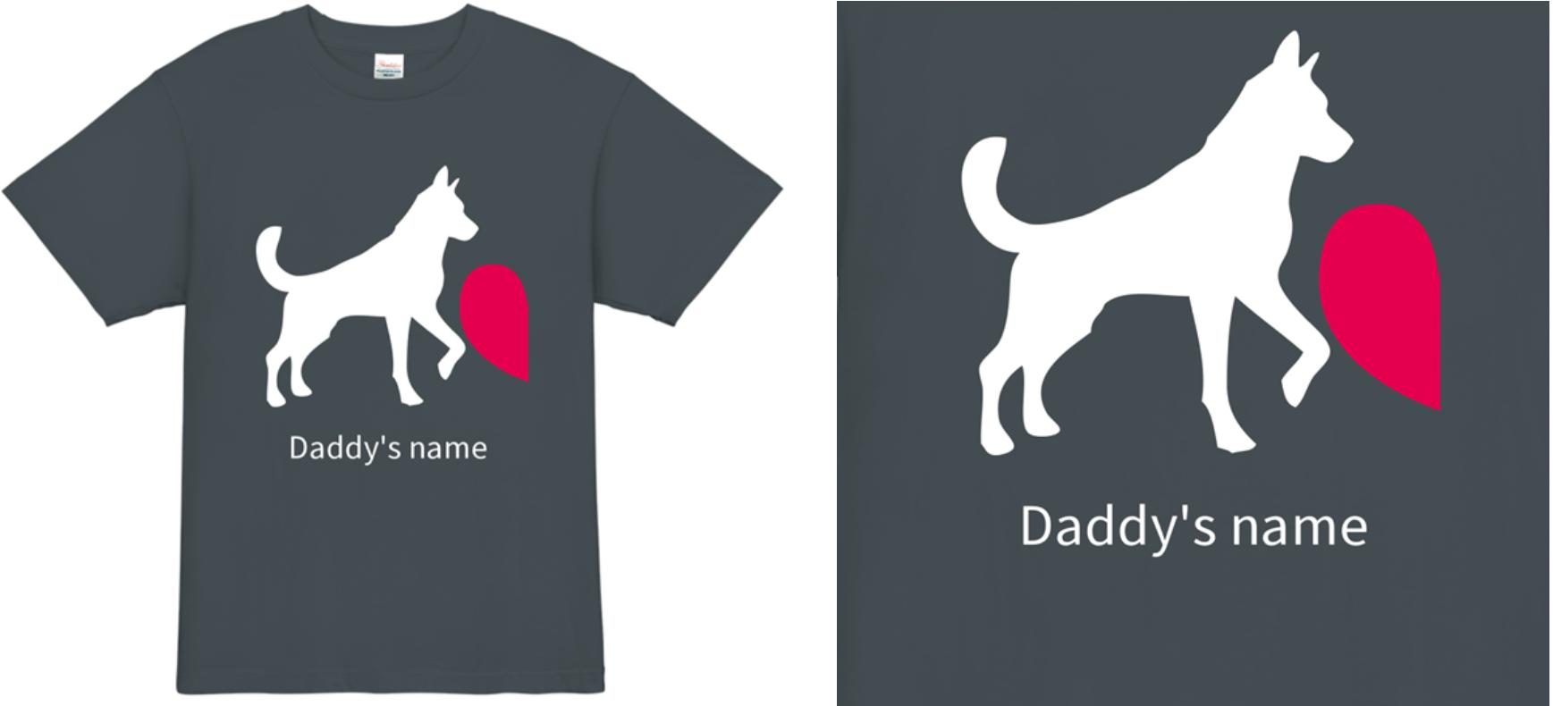 表面 寄せ書きTシャツデザイン例その2
