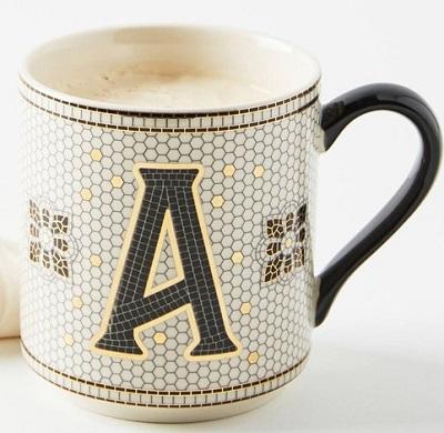 アンソロポロジー イニシャルマグカップ