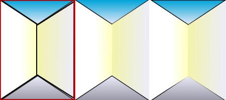 描き方手順② 白い部分にグラデーションで色を塗る