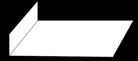 影を使った「階段だまし絵」の描き方 手順①