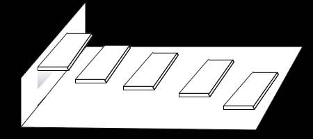 影を使った「階段だまし絵」の描き方 手順③ 最初の階段に影を入れていく