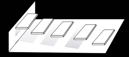 影を使った「階段だまし絵」の描き方 手順④ 全ての階段に影を入れていく