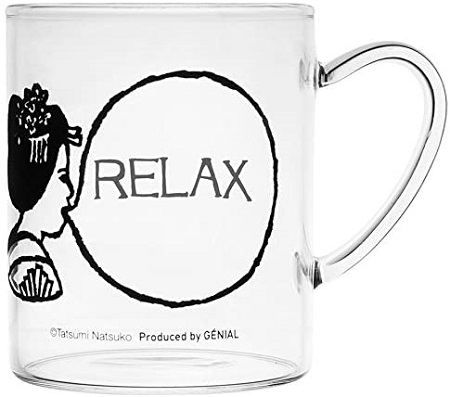 スペースジョイGENIALのBUBBLE GUM HEAT RESISTANT GLASS MUG